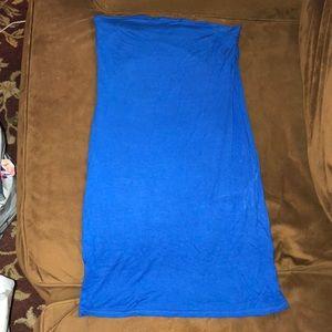 Blue Pretty Little Thing strapless dress